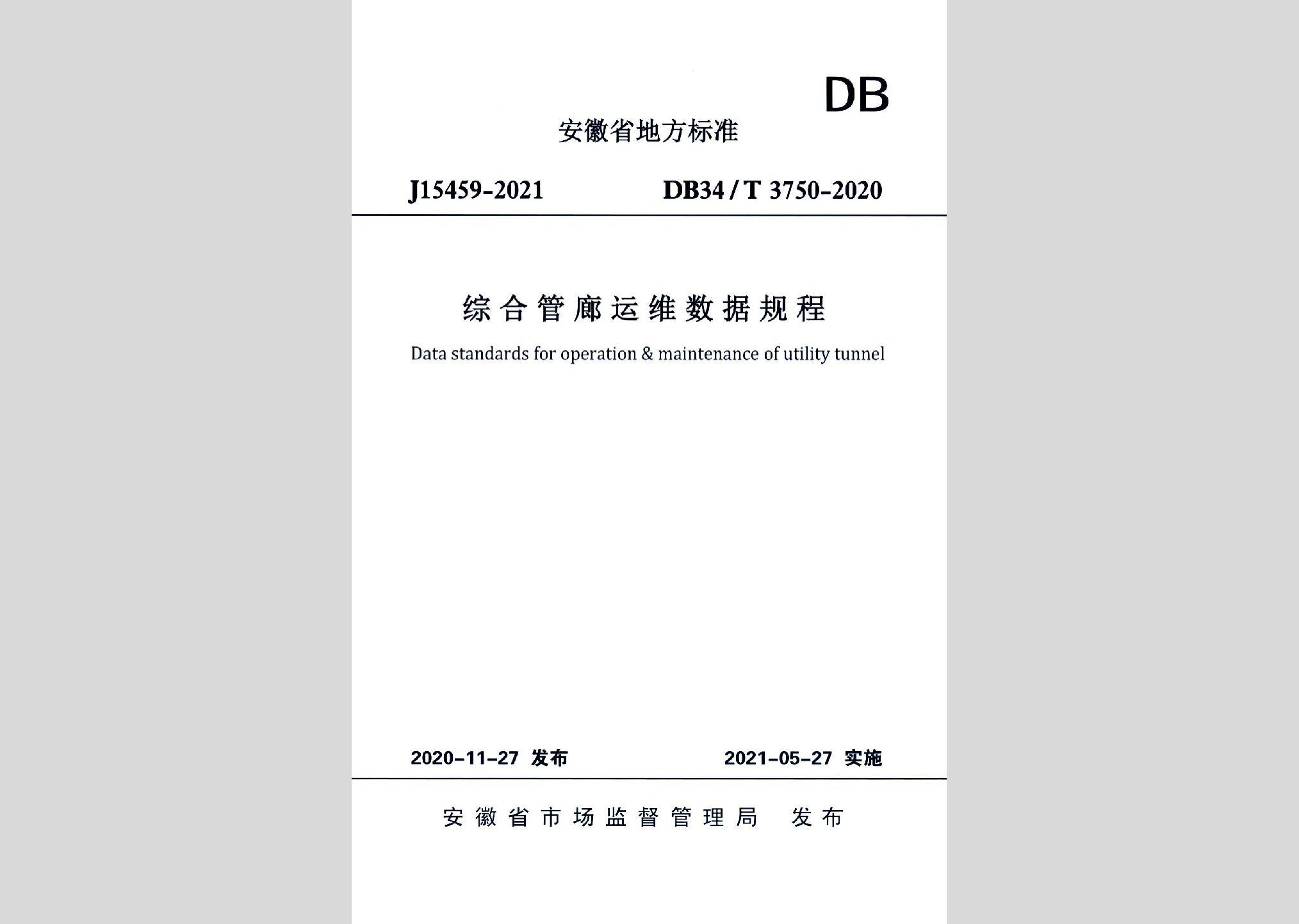 DB34/T3750-2020:综合管廊运维数据规程